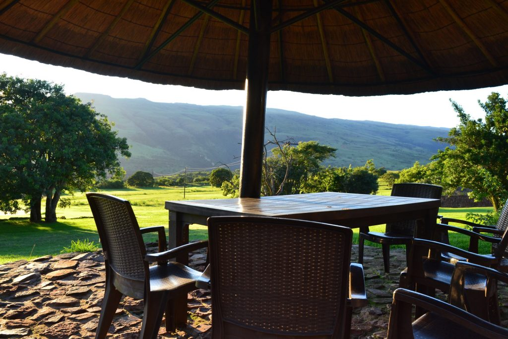 view for garden chalet